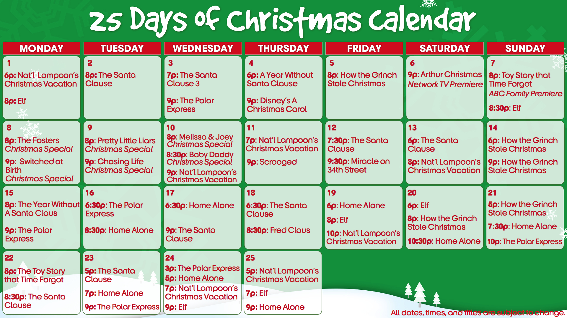 ABC Family's 25 Days of Christmas | That L.A. Writer