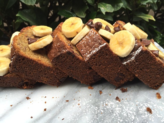 Whole Wheat Chocolate Chip Banana Bread with Coconut Oil